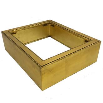 Custom Shadowbox in Gold Leaf
