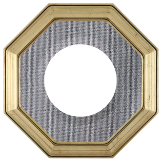 Collector Plate Frame #351 - Gold Leaf (Grey Velvet)
