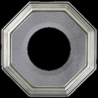 Collector Plate Frame #351 - Silver Leaf (Grey Velvet)