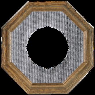 Collector Plate Frame #351 - Toasted Oak (Grey Velvet)