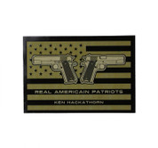 The Ken Hackathorn - Real American Patriots Sticker