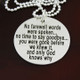 """No Farewell Words"" Remembrance / Memorial Necklace"