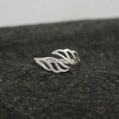 "Adjustable sterling silver ""My Angel"" ring"