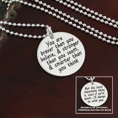 Inspirational AA. Milne (Winnie the Pooh) necklace