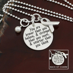 Inspirational Awareness Ribbon Necklace