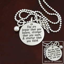 Inspirational A.A. Milnes (Winnie the Pooh) Remembrance Necklace