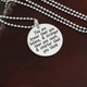"Find this necklace without additional charms in the ""Quotes"" section"
