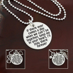 "Sterling Silver ""If There Ever Comes a Day"" Necklace"