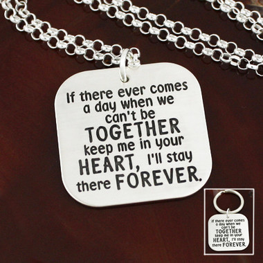 "A.A. Milne ""If there Ever Comes a Day"" Necklace"