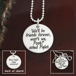 "Sterling Silver ""We'll Be Friends Forever"" Necklace"