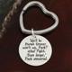 Super cute heart shaped key ring!