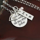 Personalize the necklace further by adding a small charm