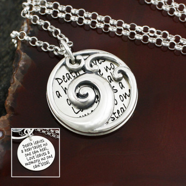 Waves of Grief Sterling Silver Necklace