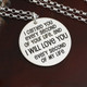 "I Carried You Necklace in the ""Phoebe"" Font"