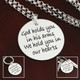 God Holds You in His Arms Memorial Necklace