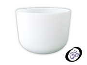 "10"" FROSTED CRYSTAL SINGING BOWL"