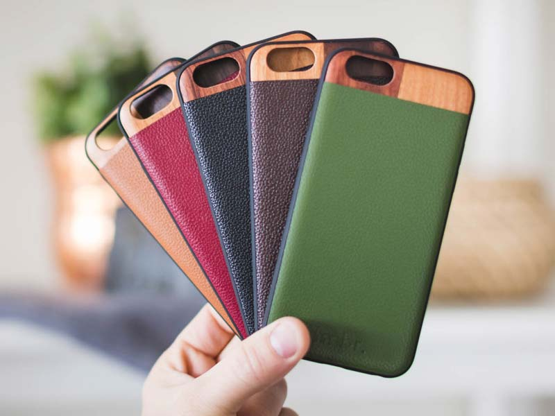 Leather Wood iPhone 7 PLUS Cases