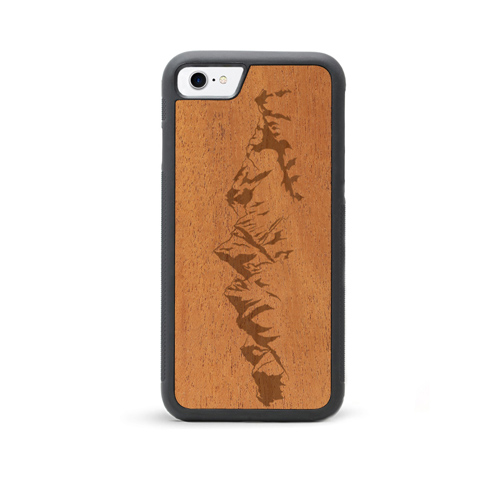 IPHONE 7 CHERRY WOOD CASE MOUNTAINS