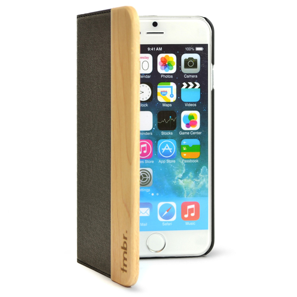 iPhone 6/6s Leather Wallet Case Wood