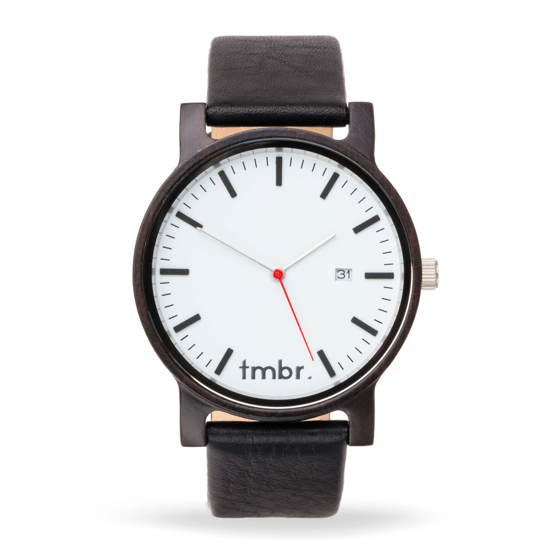 Engraved Tmbr Journeyman Wood Watch - Cascade White