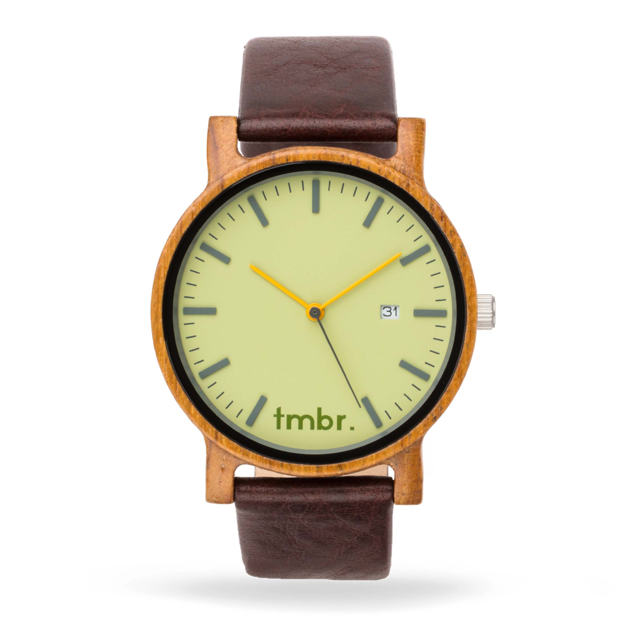 Engraved Tmbr Journeyman Wood Watch - Grove Green