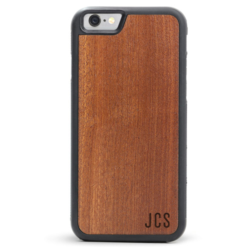 Engraved Wood iPhone 6s Case - Monogram