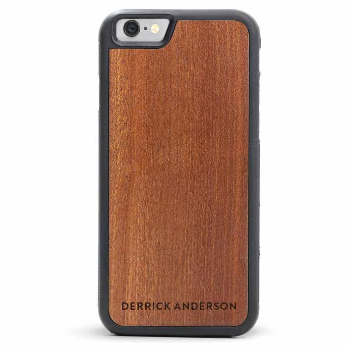 iPhone 6s PLUS Leather Wallet Case Wood
