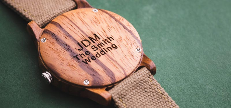 Personalized Wood Watch For Men - Groomsmen Gift Idea