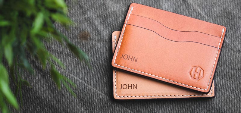 Personalized Leather Wallet For Men - Groomsmen Gift Idea