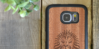Custom Engraved Wood iPhone 6/6plus Galaxy S6 S7 Cases