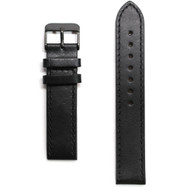 Tmbr Black Leather Watch Strap / Black Clasp