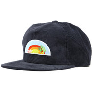 Snapback Navy Corduroy Trail Cap - Sunset