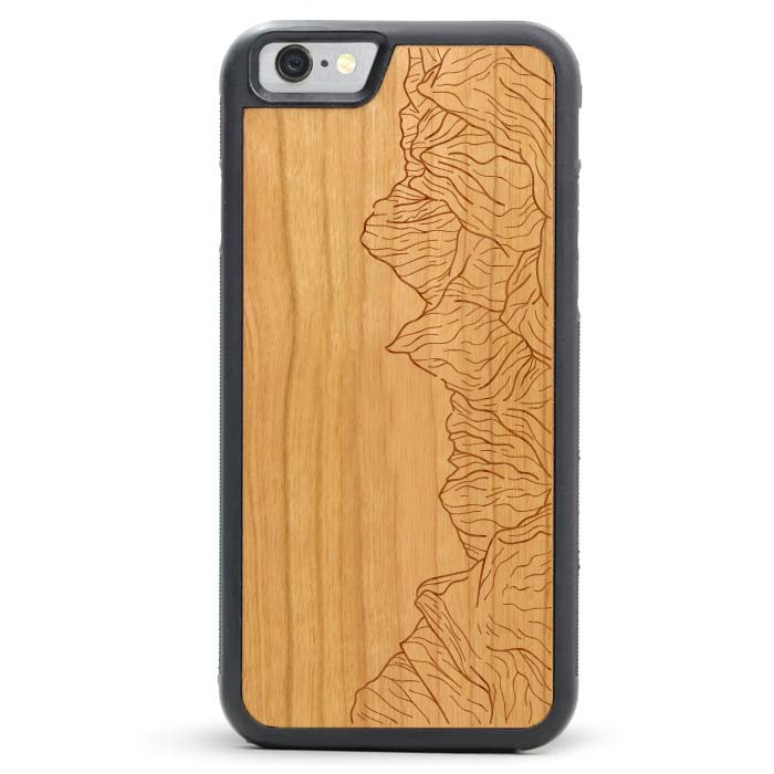 Wood iPhone 7 Case - Mountain Lines