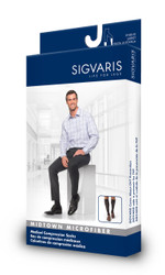 SIGVARIS MIDTOWN MICROFIBER 15-20 MMHG COMPRESSION CLOSED TOE KNEE HIGHS 821C
