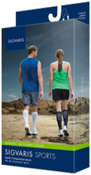 Sigvaris 401C Athletic Recovery 15-20 mmHg Knee High Compression Socks for Men and Women