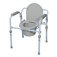 Folding Bedside Commode with Bucket and Splash Guard - rtl11148kdr