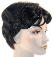 short judy garland wig hair in black