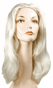 white queen wig alice in wonderland fake hair