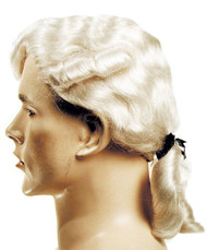 Aristocratic Colonial Man wig white