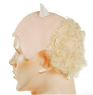 Bald and Horned Cupid Satyr Blond Wig