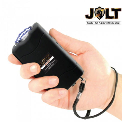 46,000,000 Black Mini Stun Gun with Safety Strap by Jolt