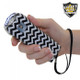 Stylish, Black and White Chevron Ladies Choice Streetwise Stun Gun