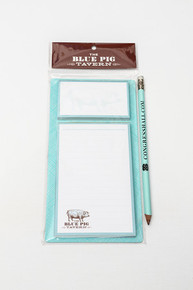 Blue Pig Magnetic Notepad