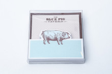 Blue Pig Memo Pad