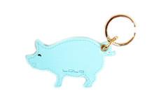 Blue Pig Key Chain