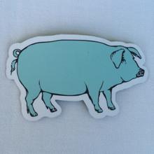 Blue Pig Magnet