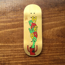 Original Smokestack Graphic Deck - Rasta Monster Yellow Bottom Ply