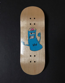Smokestack Brainiac LIMITED EDITION hand painted graphic deck (NEW!)