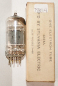 In Box Sylvania USA 5814A Gray Plate Top [] GET 3 Mica S-Rods Vacuum Tube 71/96%