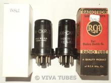 NOS Date Matched Pair Ken-Rad USA JAN-CKR-12SK7/VT-131 Metal Vacuum Tubes 100+%